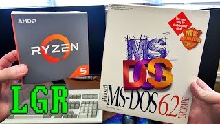 LGR - Installing MS-DOS on a 2017 Gaming PC!