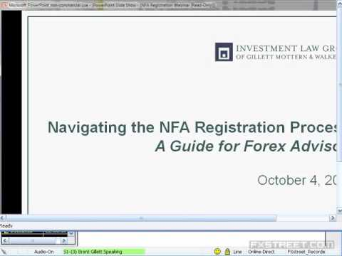 Brent S. Gillett, Esq.: Navigating the NFA Registration Process: A Guide for Forex Advisors