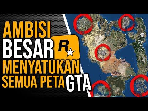 AMBISI BESAR ROCKSTAR Untuk Menyatukan Semua Peta GTA Ke Dalam Satu Game! Bakal Di GTA 6 Kah?