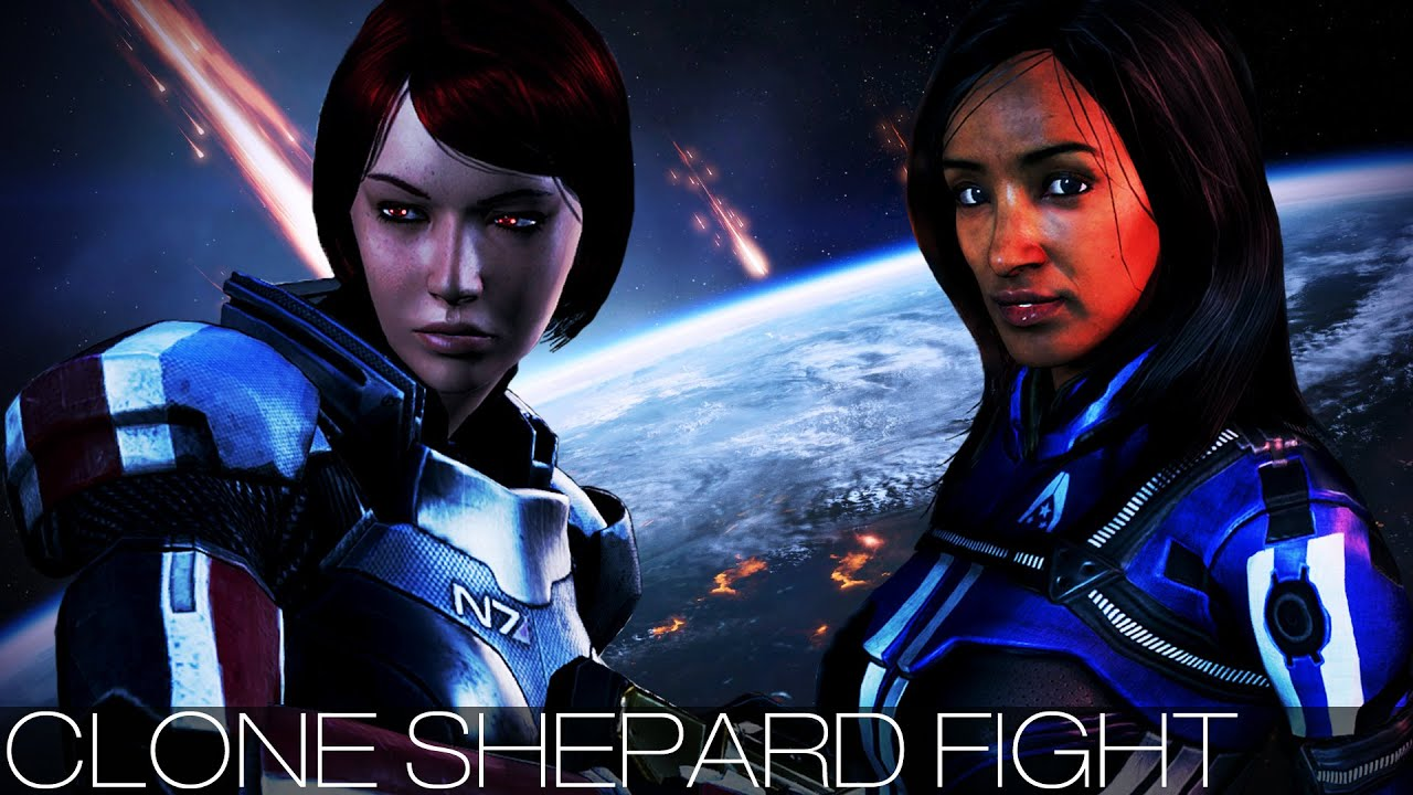 Mass Effect 3 - Clone Shepard Fight All Characters -8772
