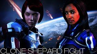 Mass Effect 3 - Clone Shepard Fight (All Characters/Dialogue/FemShep/Citadel DLC)