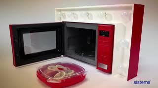 """Обзор «Контейнер пищевой Sistema """"Microwave"""", цвет: красный, 880 мл»"""