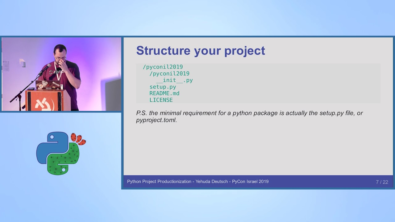 Image from Python Project Productionization - Yehuda Deutsch - PyCon Israel 2019