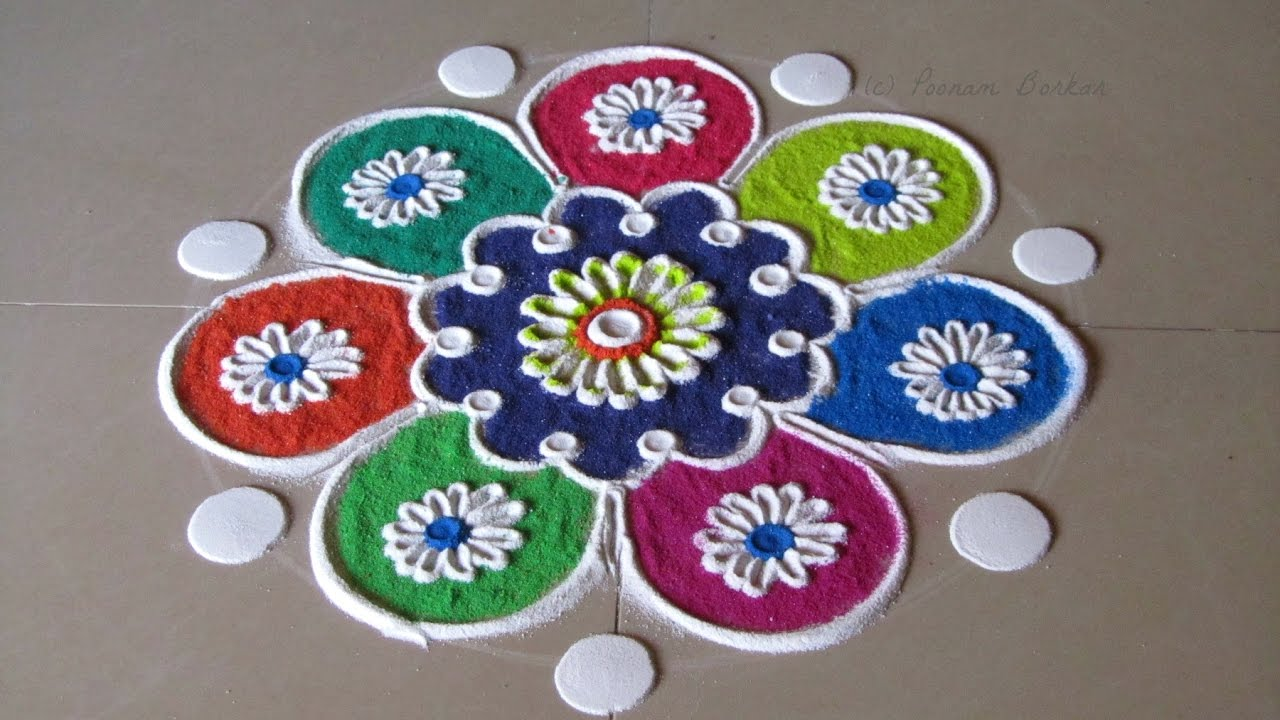 Easy Rangoli Designs For New Year