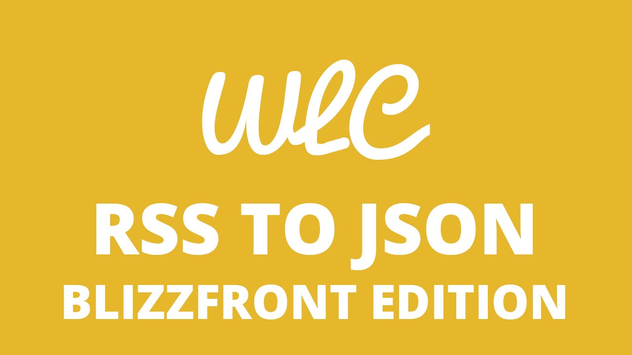 Watch Learn Code RSS(XML) to JSON BlizzFront edition