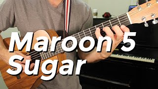Maroon 5 - Sugar (Guitar Tutorial) by Shawn Parrotte