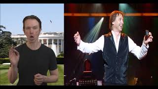 BGT Impressionist Andrew Lancaster as Donald Trump Introducing the sublime musician Simeon Wood
