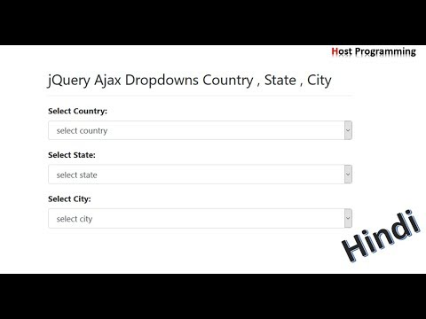 Country State City Dropdown Using JQuery  Ajax In Php