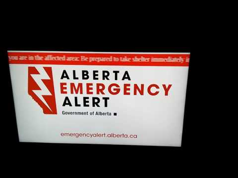 20160806 Tornado - Alberta Emergency Alert - Calgary, Airdrie, Balzac