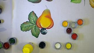 3º Aula Curso de Pintura – Aprenda a Pintar Folha e Caju