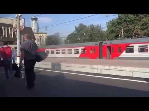 Moscow Domodedovo Airport express to Paveletsky Stn из Аэропорта Домодедово на Павелецкий 2015-08-26