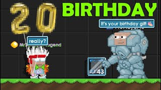 My 20th BIRTHDAY on Growtopia (BIGGEST GIFT!) | GrowTopia
