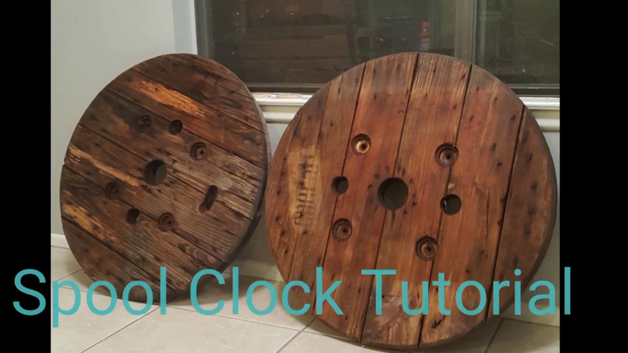 Diy Spool Clocks