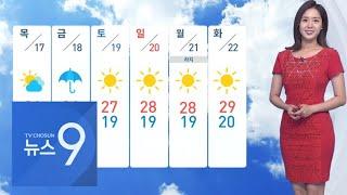 기온 다시 올라 서울 29도…동해안 오후까지 비  [뉴…