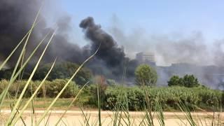 ROMA - Incendio all'Eur Magliana | ROME - Fire on the Tiber