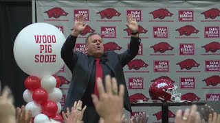 Sam Pittman introduced as Arkansas Razorbacks head football coach