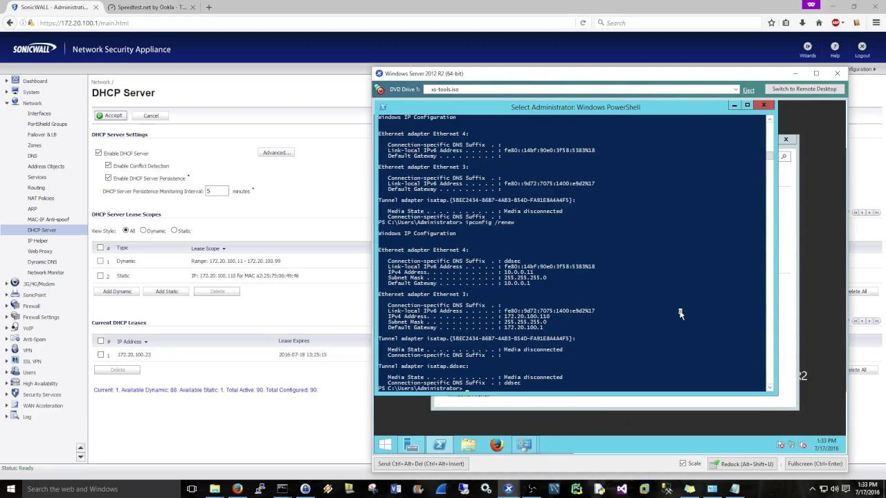 SonicWALL: Configuring a DHCP Server