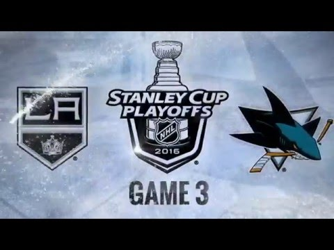 Los Angeles Kings vs San Jose Sharks. Game #3. PlayOffs NHL 2016