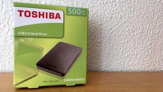 Toshiba Canvio Basics hard drive 500 GB - Unboxing español