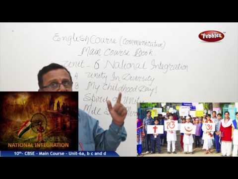 CBSE | Class 10 English | Unit - 6 - National Integration | CBSE  Live Videos