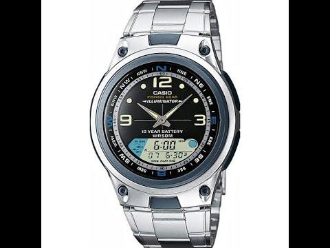 frecuentemente recoger africano  Cómo cambiar la hora (digital) del reloj Casio AW-82 - Pesca (Fishing Gear)  en español - YouTube