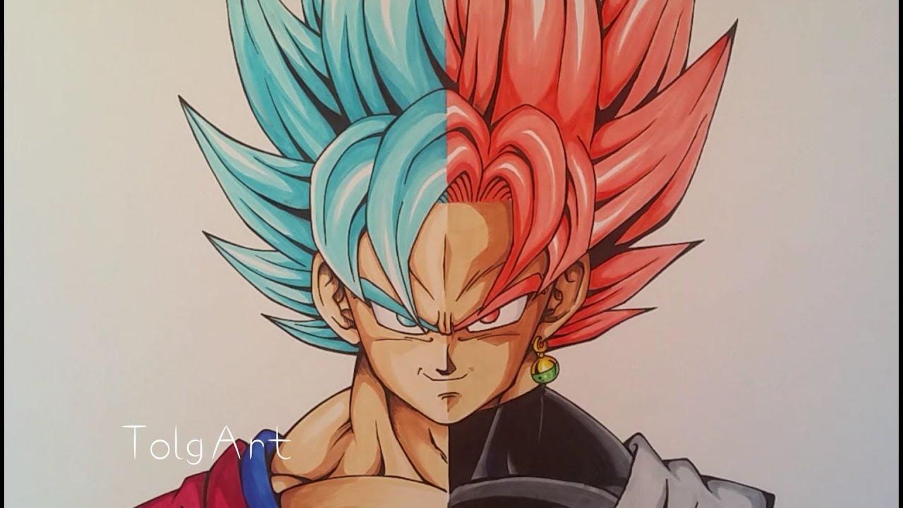 Drawing Goku Vs Black Goku  Super Saiyan Blue Vs Rose  Tolgart  40 K Subs