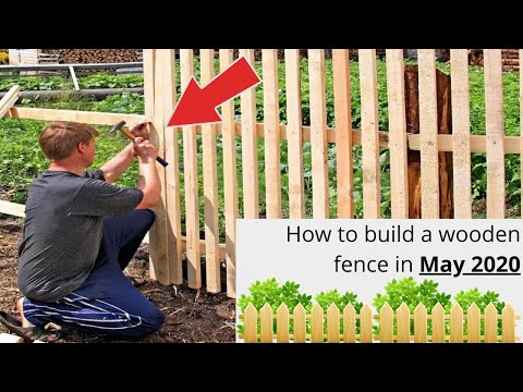 How to build a wooden fence (Step by Step)