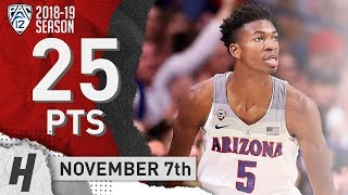 Brandon Randolph FULL HIGHLIGHTS Arizona vs Houston Baptist 2018.11.07 - 25 Points!