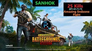 """[Hindi] PUBG Mobile   Amazing Fight In The End Zone """"21 Kills"""" Chicken Dinner"""