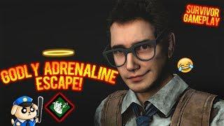 GODLY ADRENALINE ESCAPE!  Survivor Gameplay - Dead By Daylight