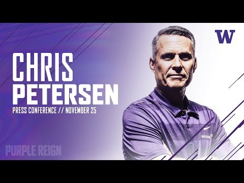 Football: Chris Petersen Weekly Press Conference