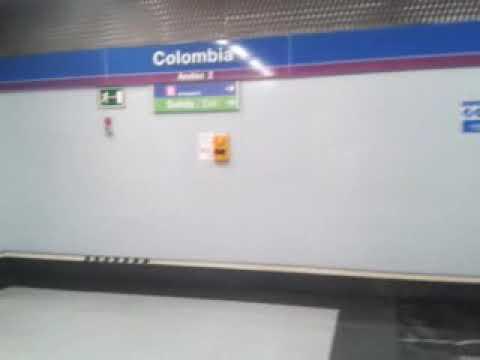 Estacion  colombia   metro  madrid