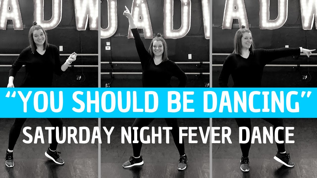 "DISCO DANCE - ""You Should Be Dancing"" from Saturday Night Fever (BEGINNER DANCE CHOREOGRAP"