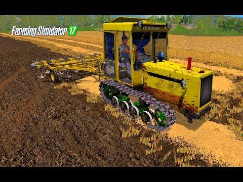 Farming Simulator 2017.  СОВХОЗ ЗАРЯ. Гусеничный трактор ДТ-75МЛ. Культиватор КПЭ-3.8