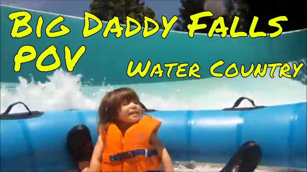 Big Daddy Falls POV 2 Year Old Girl Water Country USA Busch Gardens  Williamsburg