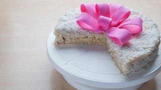 Торт без выпечки «Рафаэлло», вкусный десерт за 30 минут