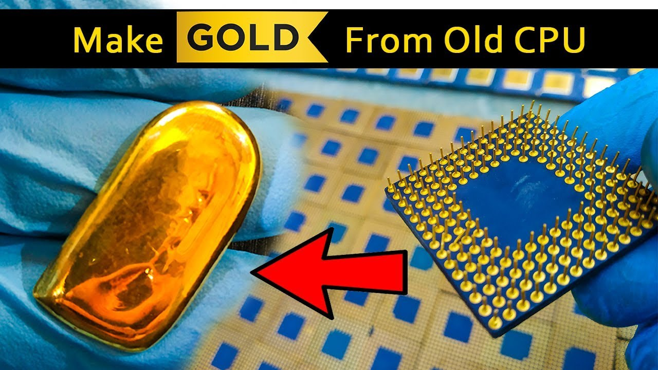 🔥🔥CPU Processors for gold recovery | Gold Extraction Process from Scrap CPU