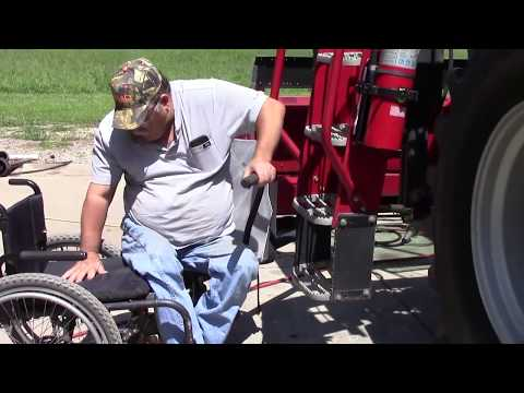 Blue Mound Farmer With Disability Demonstrates Farm Accessibility Equipment