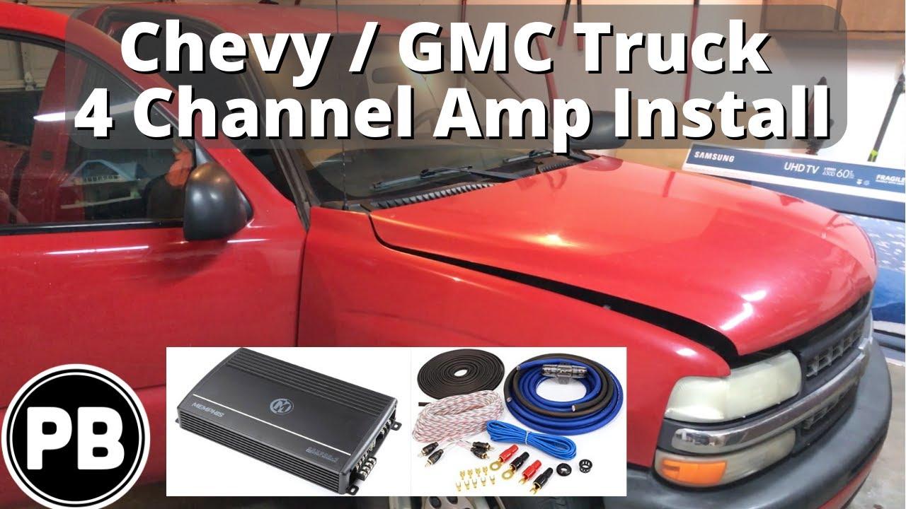 medium resolution of 1995 2006 sierra silverado avalanche 4 channel amplifier install