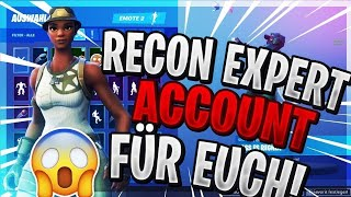 RECON EXPERT ACCOUNT RAFFLE ! Fortnite battle royale english live subscription zocken and CUSTOM GAMES