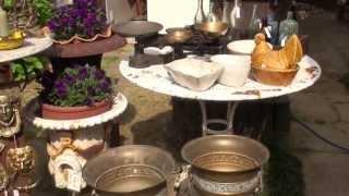 イギリスアンティーク 蚤の市 2013.05 ポートベロ中庭にて
