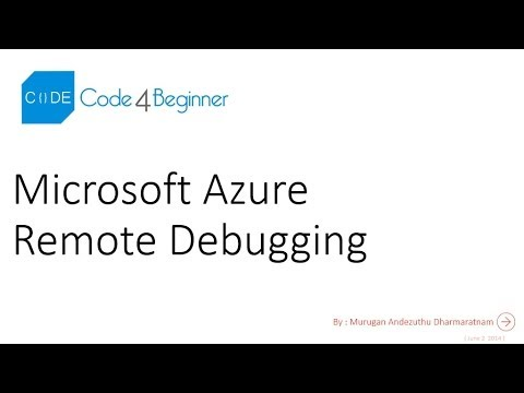 Remote Debugging a Microsoft Azure Web Site with Visual