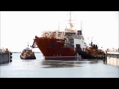 Baku Shipyard DSV Tofiq Ismayilov  Sormec Crane installation