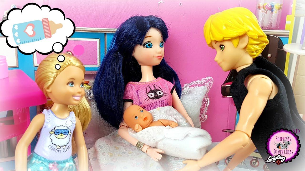 eee0818c5 Marinette y Adrien tienen otro bebé  el nacimiento de Hugo y Piper🐞 Serie  con muñecas de Ladybug - YouTube