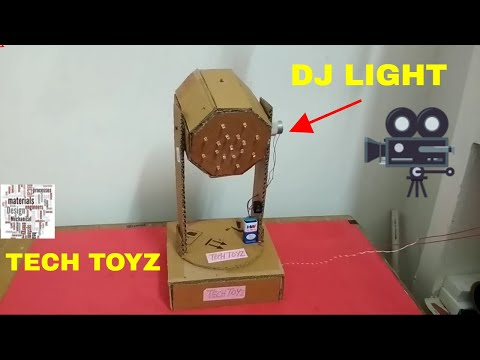How to Make DJ Light at Home | Moving DJ Lights from Cardboard | Tech Toyz Videos