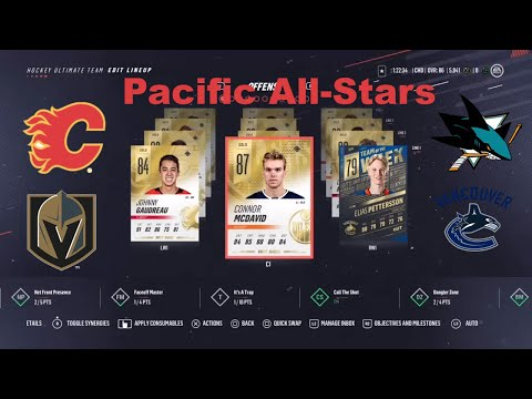 Pacific Division All-Stars Team Build on NHL 19 Hockey Ultimate Team