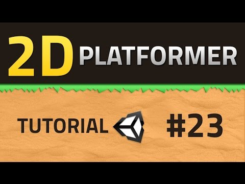 23. How to make a 2D Platformer - GAME OVER - Unity Tutorial