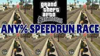 GTA San Andreas Any% Speedrun RACE!
