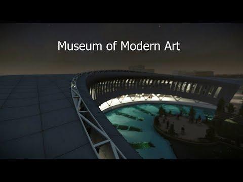 Museum of Modern Art. Lumion + SketchUp