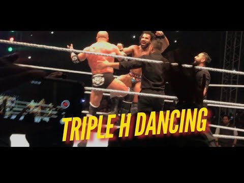 Triple H Dancing With Jinder Mahal WWE LIVE INDIA